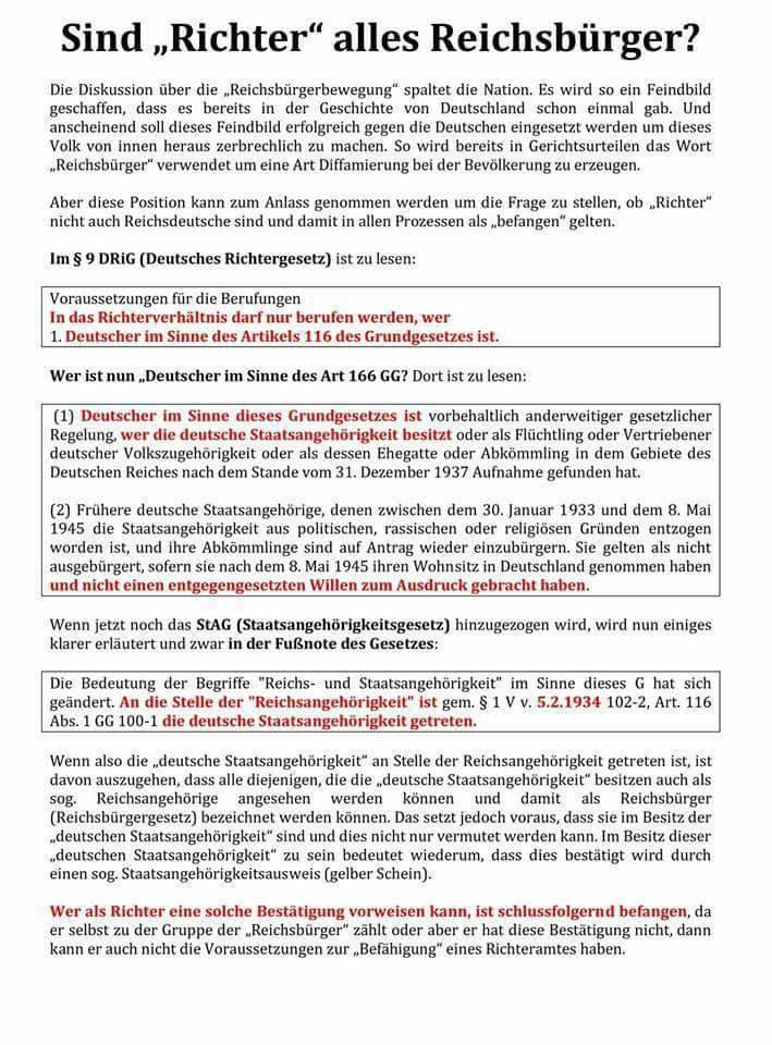 """Sind """"Richter"""" alles Reichsbürger?"""