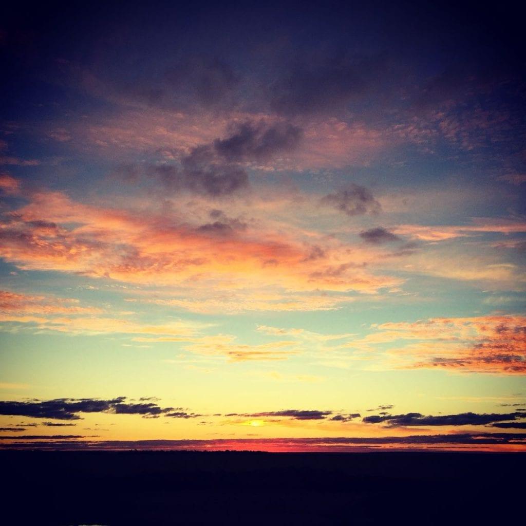 Sonnenuntergang in Paraguay